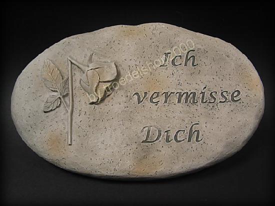 3912) gedenkstein * grabschmuck * mit rose * versch. sprüche, Best garten ideen